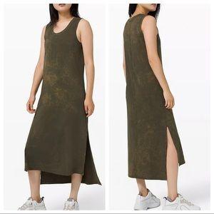 Lululemon All Yours Tank Maxi Dress 12 Dark Olive